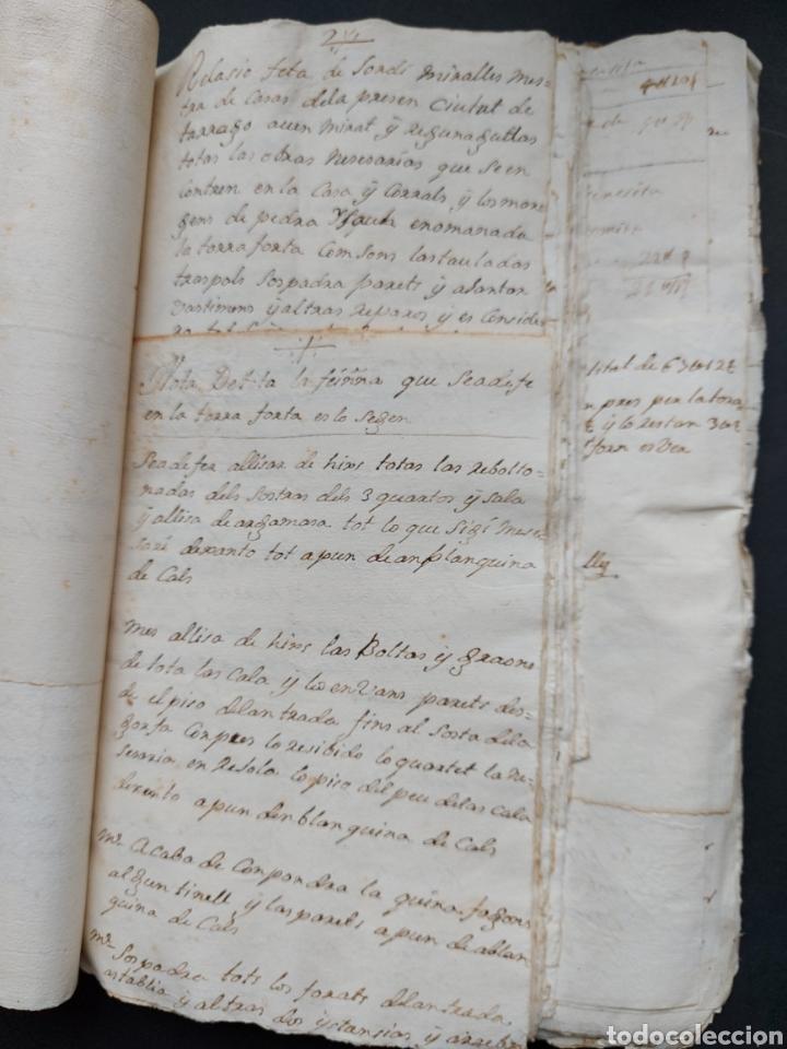 Manuscritos antiguos: Gastos de Fortificación Casa la Torreforta y sus terrenos adjuntos Tarragona Siglo XVIII Siglo XIX - Foto 22 - 240464255