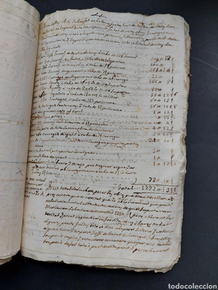 Manuscritos antiguos: Gastos de Fortificación Casa la Torreforta y sus terrenos adjuntos Tarragona Siglo XVIII Siglo XIX - Foto 24 - 240464255