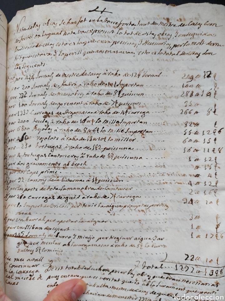 Manuscritos antiguos: Gastos de Fortificación Casa la Torreforta y sus terrenos adjuntos Tarragona Siglo XVIII Siglo XIX - Foto 25 - 240464255
