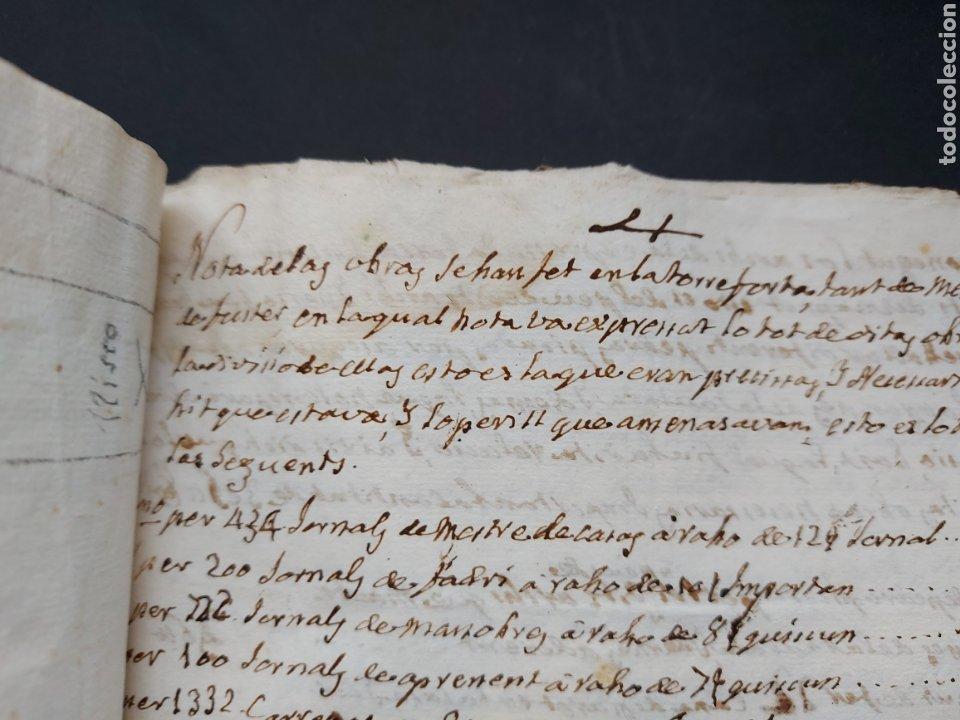 Manuscritos antiguos: Gastos de Fortificación Casa la Torreforta y sus terrenos adjuntos Tarragona Siglo XVIII Siglo XIX - Foto 26 - 240464255