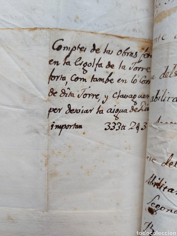 Manuscritos antiguos: Gastos de Fortificación Casa la Torreforta y sus terrenos adjuntos Tarragona Siglo XVIII Siglo XIX - Foto 29 - 240464255