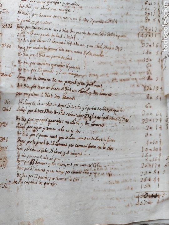 Manuscritos antiguos: Gastos de Fortificación Casa la Torreforta y sus terrenos adjuntos Tarragona Siglo XVIII Siglo XIX - Foto 32 - 240464255