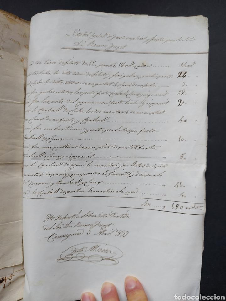 Manuscritos antiguos: Gastos de Fortificación Casa la Torreforta y sus terrenos adjuntos Tarragona Siglo XVIII Siglo XIX - Foto 33 - 240464255