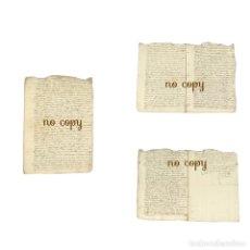 Manuscritos antiguos: RECLAMACIÓN PENSIÓN IGLESIA DE TOLEDO POR UN CLÉRIGO BULA URBANO VIII 1633-1635. Lote 285749353