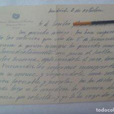 Manuscritos antiguos: SERVICIOS HIDRAULICOS DEL GUADIANA - DELEGADO DEL GOBIERNO: CARTA MANUSCRITA. AÑOS 40 ?. Lote 240932435