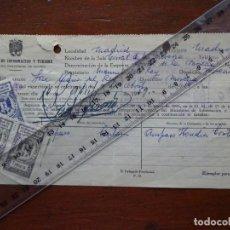 Manuscritos antiguos: FLAMENCO, CORRAL DE LA MORERÍA, AUTORIZACIÓN ACTUACIÓN AMPARO HEREDIA CORTÉS, 1959. Lote 241510135