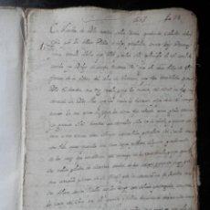 Manuscritos antiguos: MANUSCRITO AÑO 1707 VILLAFRANCA NAVARRA TESTAMENTO DE 1603 DE DIEGO ISABA - 20 PÁGINAS. Lote 241681135
