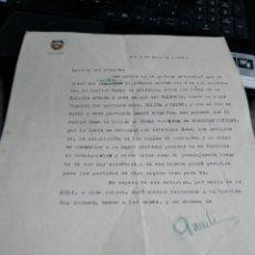 Manuscrits anciens: CARTA VALENCIA CLUB DE FUTBOL 1944 FUTBOLISTAS VESTIDOS DE GUARDIA CIVILES. Lote 241734110