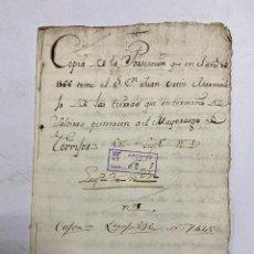 Manuscritos antiguos: SALTERAS, 1566. TOMA DE POSESIÓN PERTENECIENTE AL MAYORAZGO DE TORRIJOS. VER/LEER.. Lote 241863090