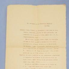 Manuscritos antiguos: CARTA AL DELEGADO DE LA CRUZ ROJA DE IRÚN, REPATRIACIÓN, AÑO 1939. Lote 241952780