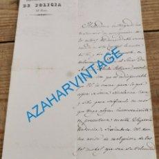 Manuscritos antiguos: MADRID, 1839.CARTA INCIDENTES, DECLARACION DE ALCALA GALIANO, FIRMA RAMON COBO DE LA TORRE. Lote 242279630