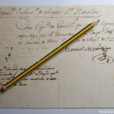 Manuscritos antiguos: MANUSCRITO MILITAR 1799. REGIMIENTO DE INFANTERÍA DE ARAGÓN. CADIZ. SIGLO XVIII. GRANADEROS.. Lote 242416905