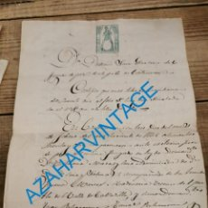 Manuscritos antiguos: CASTROSERRACIN, SEGOVIA, 1868, DEMANDA POR IMPAGO DE UN CENSO, 3 PAGINAS. Lote 242443180