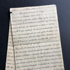 Manuscritos antiguos: DIARIO DE UN VIAJE AÑO 1910 / RELIGIOSA ESPAÑOLA ( HERMANAS AZULES ) CASTRES - BUENOS AIRES /. Lote 242989360