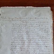 Manuscritos antiguos: CERTIFICADO DE BAUTISMO 1887. Lote 243015155