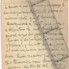 Manuscritos antiguos: MANUSCRITO,SIN FECHA, REFLEXIÓN LEGAL/ FILOSÓFICA SOBRE POSESIÓN, DOMINIO, DISFRUTE, DERECHO, ETC.. Lote 243386745