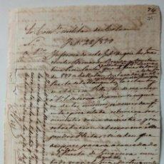 Manuscritos antiguos: MANUSCRITO DE CUBA AL COMANDANTE MILITAR DE COLON SOBRE LOS GUARDIAS CIVILES AÑO 1879. Lote 243398325