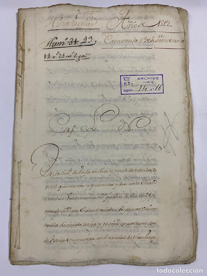 ÉCIJA, 1542. MEDIDAS. ESCRITURA. DOTE. OTORGAMIENTO. 5 SELLOS. VER/LEER (Coleccionismo - Documentos - Manuscritos)
