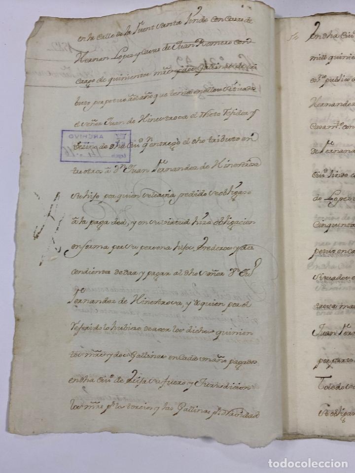 Manuscritos antiguos: ÉCIJA, 1542. MEDIDAS. ESCRITURA. DOTE. OTORGAMIENTO. 5 SELLOS. VER/LEER - Foto 2 - 243538745
