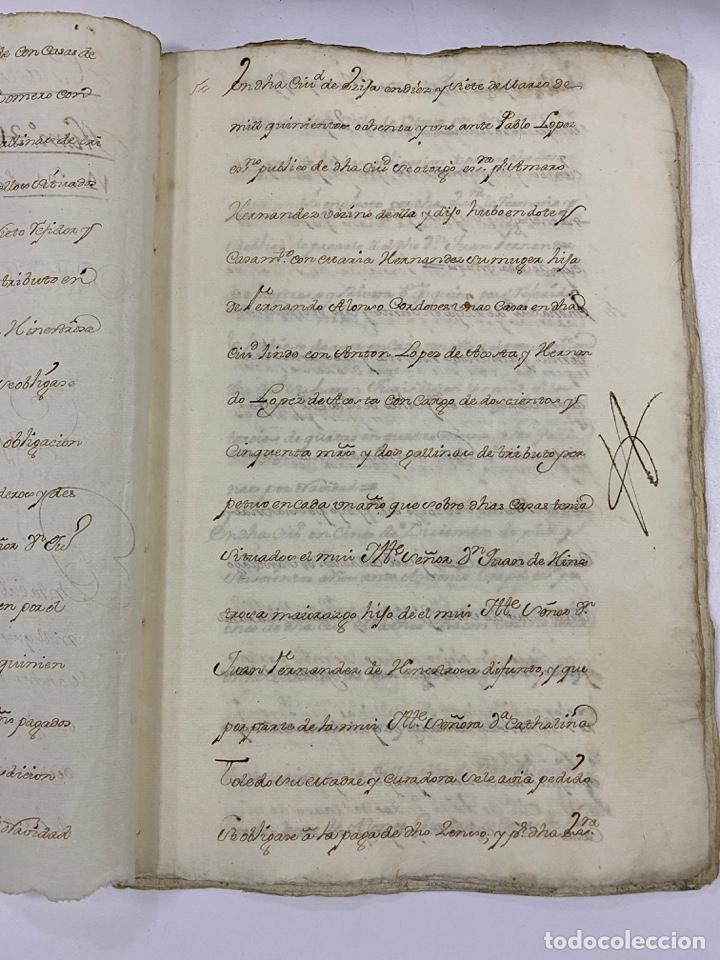 Manuscritos antiguos: ÉCIJA, 1542. MEDIDAS. ESCRITURA. DOTE. OTORGAMIENTO. 5 SELLOS. VER/LEER - Foto 3 - 243538745