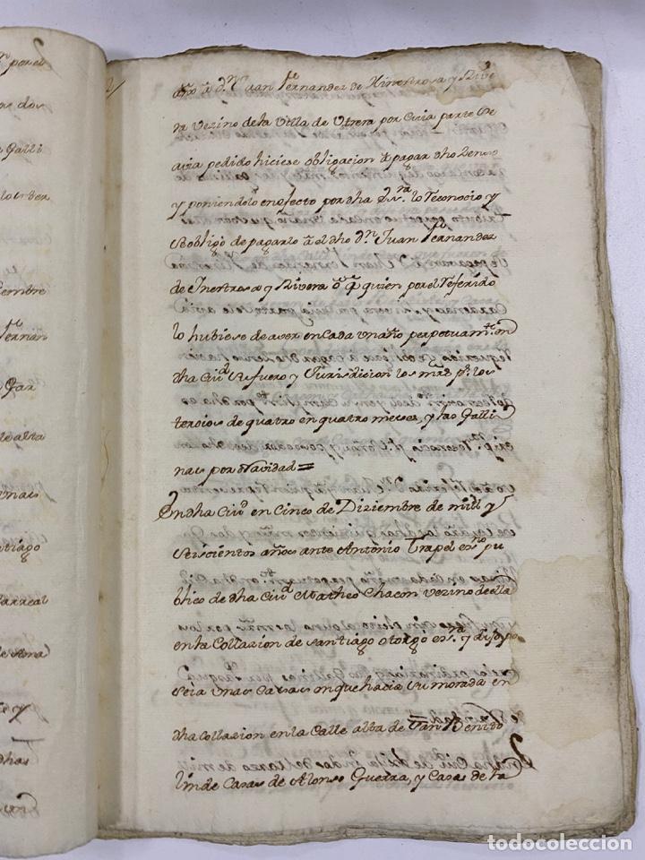 Manuscritos antiguos: ÉCIJA, 1542. MEDIDAS. ESCRITURA. DOTE. OTORGAMIENTO. 5 SELLOS. VER/LEER - Foto 5 - 243538745
