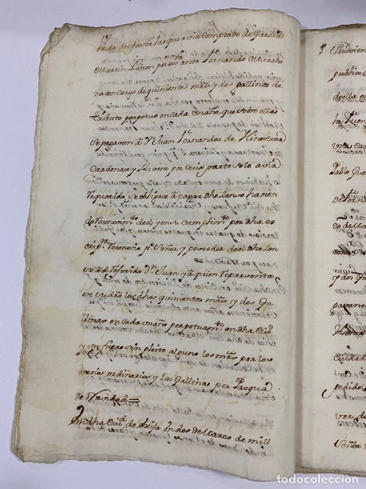 Manuscritos antiguos: ÉCIJA, 1542. MEDIDAS. ESCRITURA. DOTE. OTORGAMIENTO. 5 SELLOS. VER/LEER - Foto 6 - 243538745