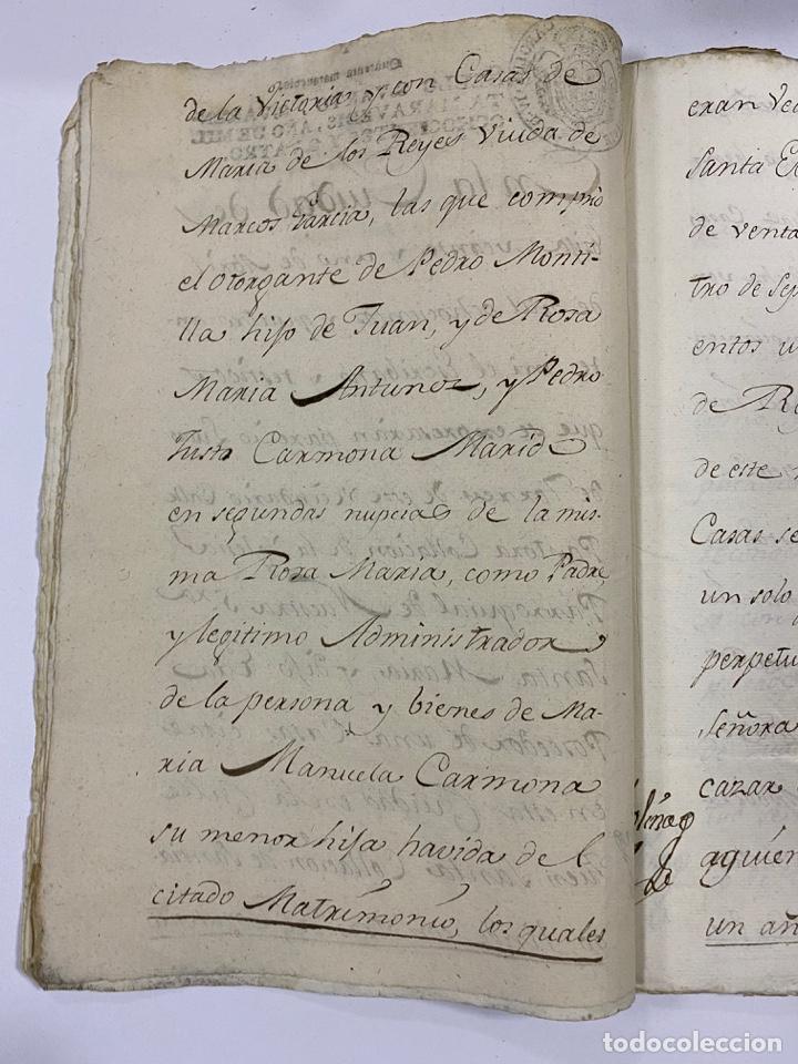 Manuscritos antiguos: ÉCIJA, 1542. MEDIDAS. ESCRITURA. DOTE. OTORGAMIENTO. 5 SELLOS. VER/LEER - Foto 12 - 243538745