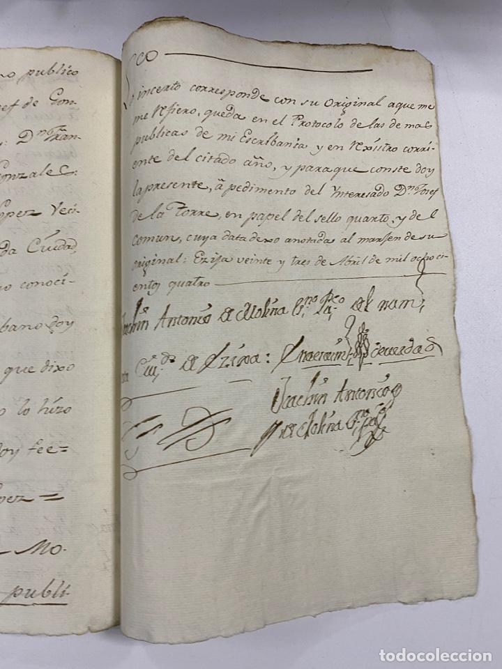 Manuscritos antiguos: ÉCIJA, 1542. MEDIDAS. ESCRITURA. DOTE. OTORGAMIENTO. 5 SELLOS. VER/LEER - Foto 19 - 243538745