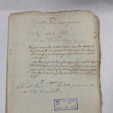 Manuscritos antiguos: ÉCIJA, 1569-1745. MEDIDAS. FRANCISCO DE GUZMAN. CONVENTO DEL POPULO DE SEVILLA. VER/LEER. Lote 243538970