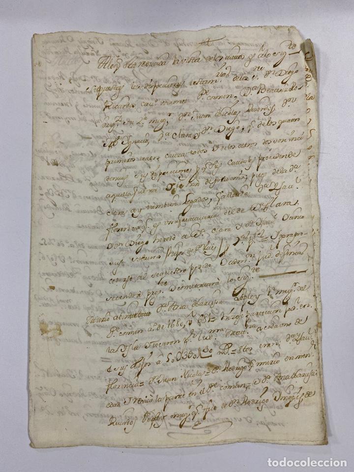 CADIZ, 1765. MEDIDAS TESTAMENTARIAS. VER/LEER (Coleccionismo - Documentos - Manuscritos)