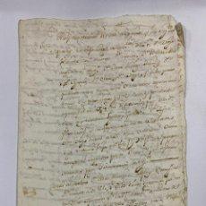 Manuscritos antiguos: CADIZ, 1765. MEDIDAS TESTAMENTARIAS. VER/LEER. Lote 243539150