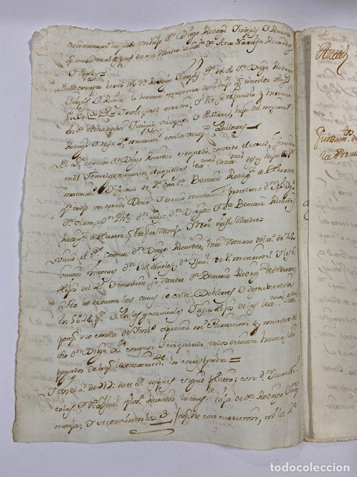 Manuscritos antiguos: CADIZ, 1765. MEDIDAS TESTAMENTARIAS. VER/LEER - Foto 2 - 243539150