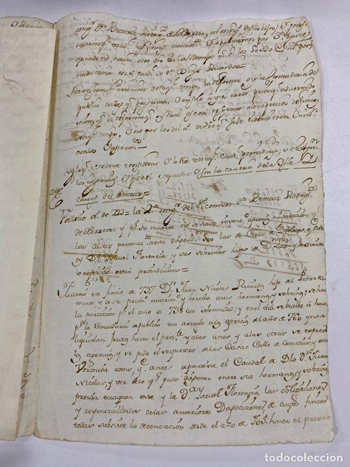 Manuscritos antiguos: CADIZ, 1765. MEDIDAS TESTAMENTARIAS. VER/LEER - Foto 6 - 243539150