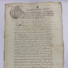 Manuscritos antiguos: SEVILLA, 1764. PODER PARA REQUERIMIENTOS. MEDIDAS. MARQUES DE TABLANTES. 1 SELLO.. Lote 243539410