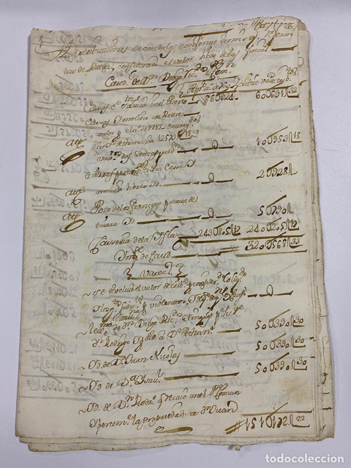 CADIZ, 1765. MEDIDAS. DISTRIBUCION DE CAUDALES. AUTOS. VER/LEER (Coleccionismo - Documentos - Manuscritos)