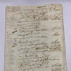 Manuscritos antiguos: CADIZ, 1765. MEDIDAS. DISTRIBUCION DE CAUDALES. AUTOS. VER/LEER. Lote 243540190