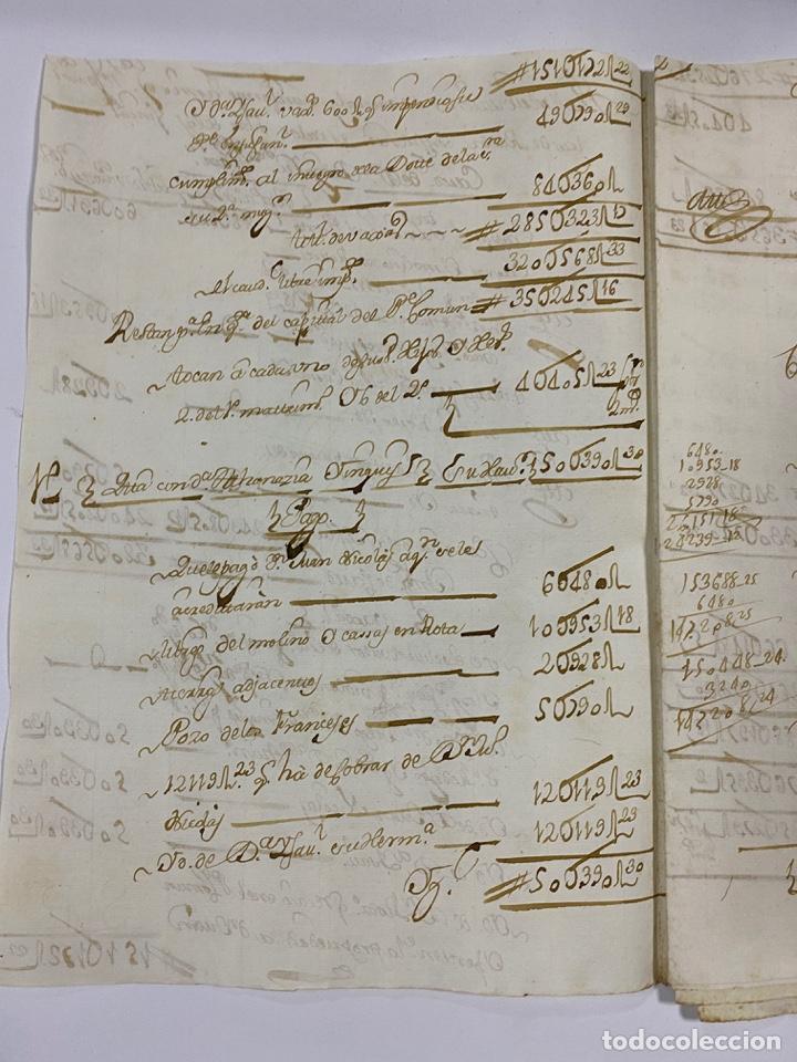 Manuscritos antiguos: CADIZ, 1765. MEDIDAS. DISTRIBUCION DE CAUDALES. AUTOS. VER/LEER - Foto 2 - 243540190