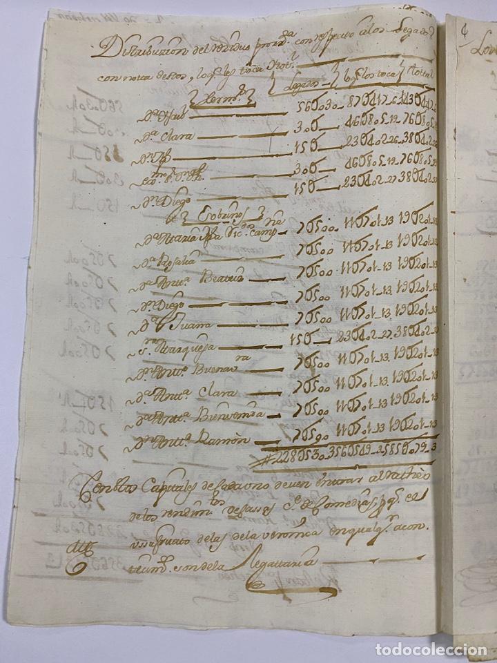 Manuscritos antiguos: CADIZ, 1765. MEDIDAS. DISTRIBUCION DE CAUDALES. AUTOS. VER/LEER - Foto 6 - 243540190