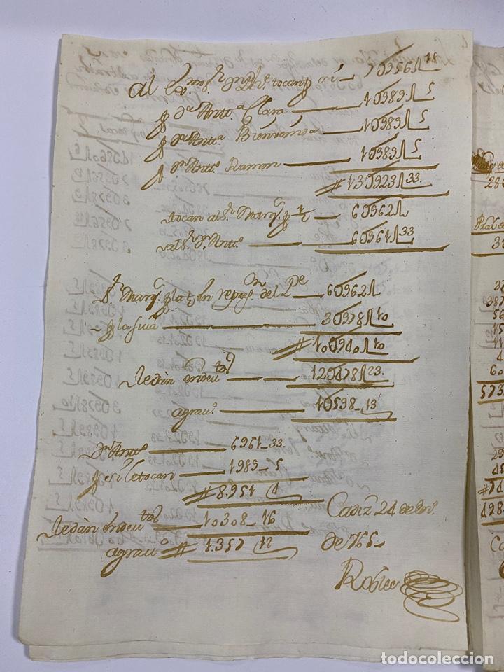 Manuscritos antiguos: CADIZ, 1765. MEDIDAS. DISTRIBUCION DE CAUDALES. AUTOS. VER/LEER - Foto 8 - 243540190