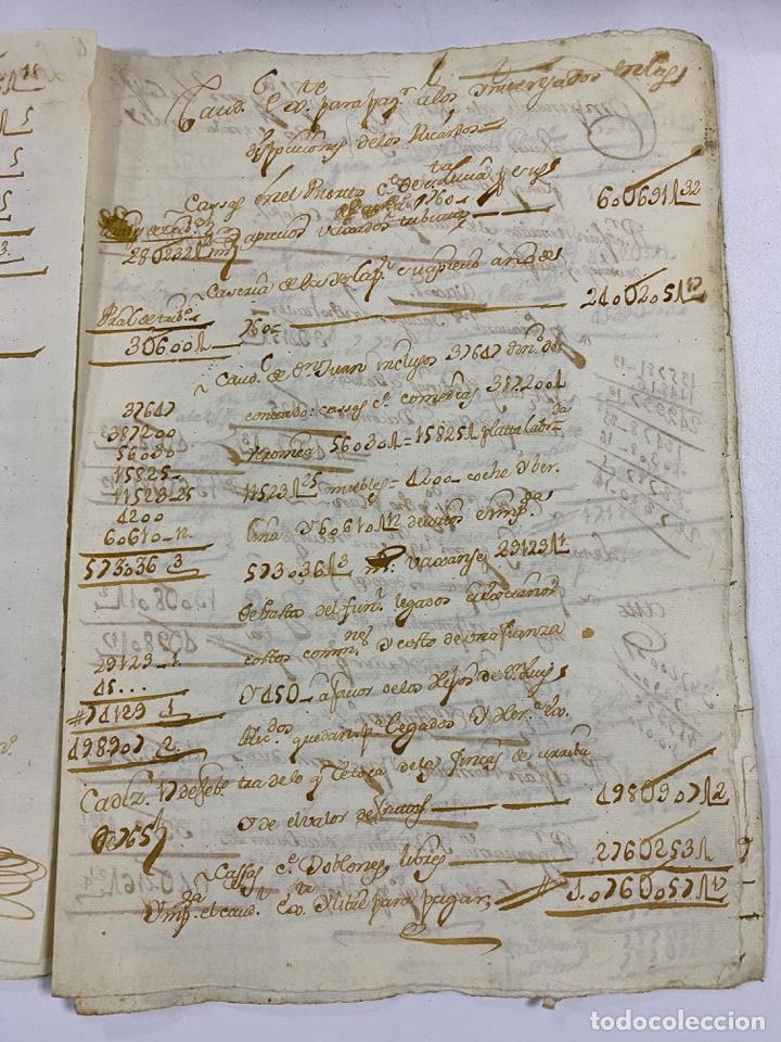 Manuscritos antiguos: CADIZ, 1765. MEDIDAS. DISTRIBUCION DE CAUDALES. AUTOS. VER/LEER - Foto 9 - 243540190