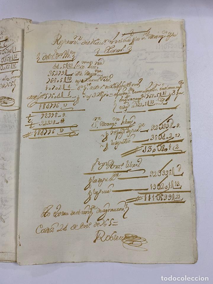 Manuscritos antiguos: CADIZ, 1765. MEDIDAS. DISTRIBUCION DE CAUDALES. AUTOS. VER/LEER - Foto 15 - 243540190