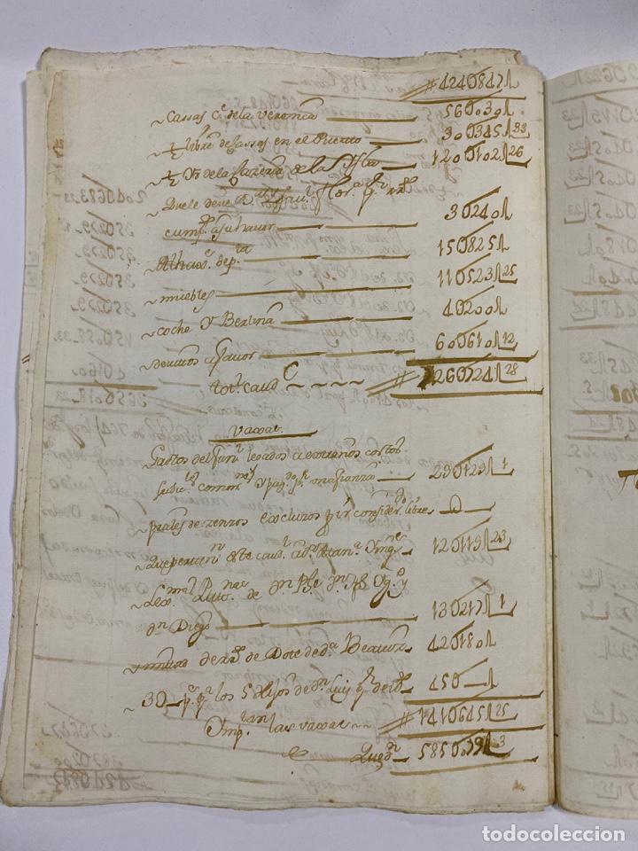 Manuscritos antiguos: CADIZ, 1765. MEDIDAS. DISTRIBUCION DE CAUDALES. AUTOS. VER/LEER - Foto 19 - 243540190