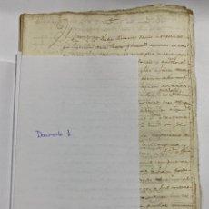 Manuscritos antiguos: CADIZ. CARACAS. 1769. HERENCIA. TESTAMENTO. ACCIONES. VER/LEER. Lote 243541020