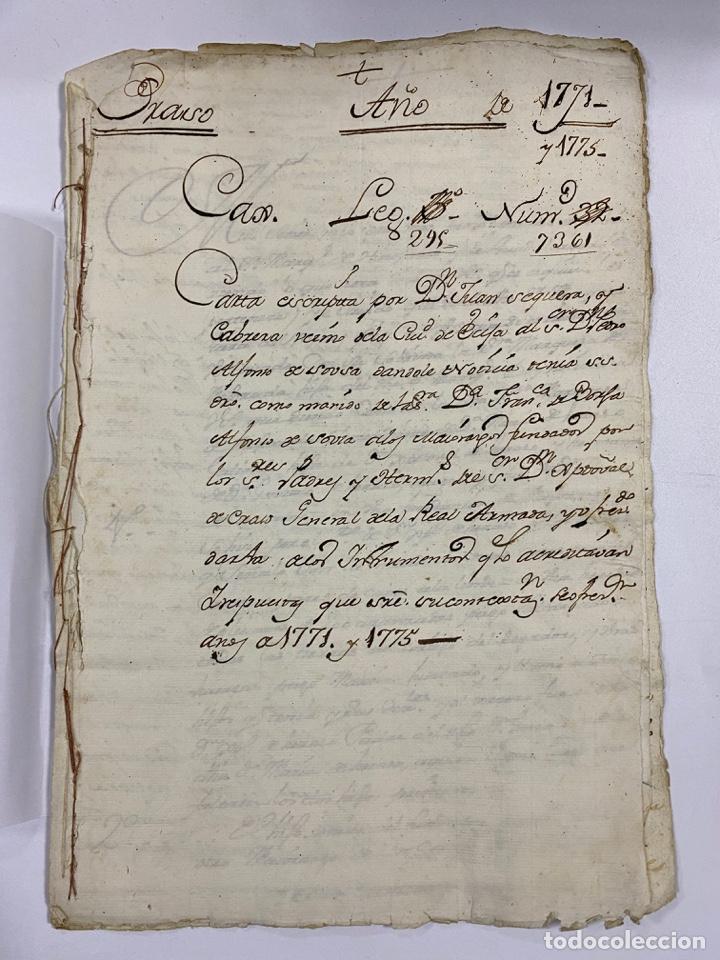1771. MEDIDAS GENERAL DE LA REAL ARMADA. VER/LEER (Coleccionismo - Documentos - Manuscritos)