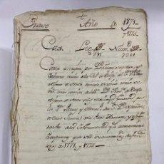 Manuscritos antiguos: 1771. MEDIDAS GENERAL DE LA REAL ARMADA. VER/LEER. Lote 243542485