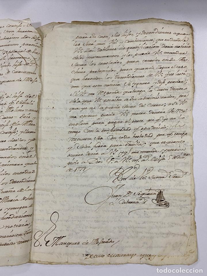 Manuscritos antiguos: 1771. MEDIDAS GENERAL DE LA REAL ARMADA. VER/LEER - Foto 4 - 243542485