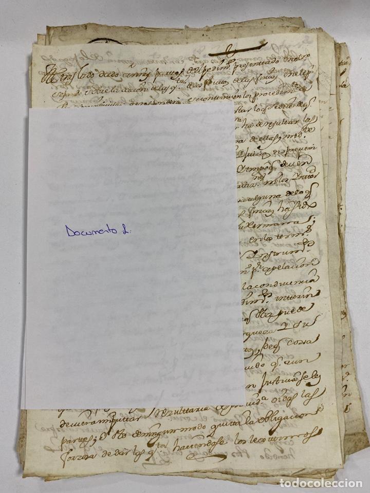 CADIZ, 1765. DACIÓN DE BIENES. VARIOS DOCUMENTOS. 2 SELLOS-TIMBRES. VER/LEER (Coleccionismo - Documentos - Manuscritos)