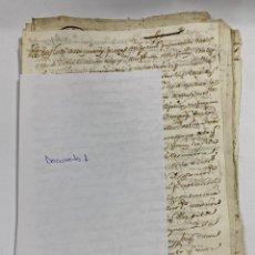 Manuscritos antiguos: CADIZ, 1765. DACIÓN DE BIENES. VARIOS DOCUMENTOS. 2 SELLOS-TIMBRES. VER/LEER. Lote 243543215