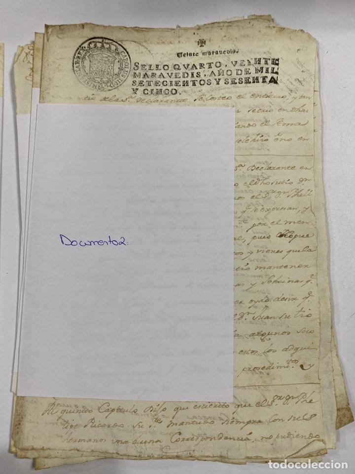 Manuscritos antiguos: CADIZ, 1765. DACIÓN DE BIENES. VARIOS DOCUMENTOS. 2 SELLOS-TIMBRES. VER/LEER - Foto 5 - 243543215