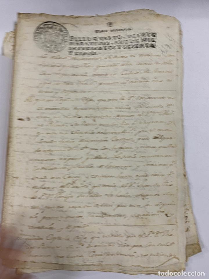 Manuscritos antiguos: CADIZ, 1765. DACIÓN DE BIENES. VARIOS DOCUMENTOS. 2 SELLOS-TIMBRES. VER/LEER - Foto 6 - 243543215